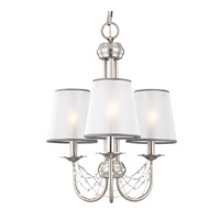 Aveline 3 Light 15 inch Brushed Steel Chandelier Ceiling Light
