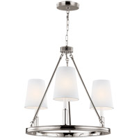 Feiss F2921/3PN Lismore 3 Light 23 inch Polished Nickel Chandelier Ceiling Light