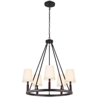 Feiss Lismore 5 Light Chandelier in Oil Rubbed Bronze F2922/5ORB