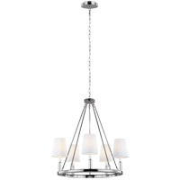 Lismore 5 Light 28 inch Polished Nickel Chandelier Ceiling Light