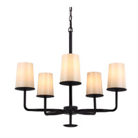 Huntley 5 Light 27 inch Oil Rubbed Bronze Chandelier Ceiling Light in Fluorescent