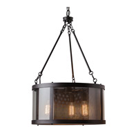 Bluffton 3 Light 20 inch Oil Rubbed Bronze Chandelier Ceiling Light in Standard