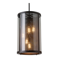 Feiss OL12014ORB Bluffton 5 Light 15 inch Oil Rubbed Bronze Outdoor Lantern Hanging in Standard