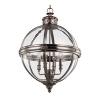 Feiss Adams 4 Light Chandelier Large Pendant in Antique Nickel F2931/4ANL