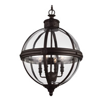 Feiss F2931/4ORB Adams 4 Light 20 inch Oil Rubbed Bronze Chandelier Large Pendant Ceiling Light