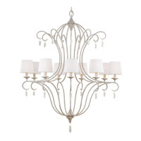 Feiss F2934/9CHKW Caprice 9 Light 37 inch Chalk Washed Chandelier Ceiling Light