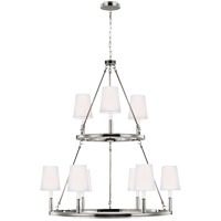 Feiss Lismore 9 Light Chandelier in Polished Nickel F2937/3+6PN