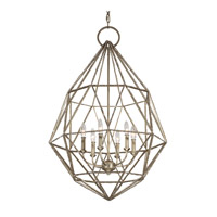 Feiss Marquise 6 Light Chandelier in Burnished Silver F2942/6BUS