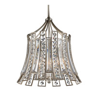Soros 4 Light 20 inch Ebonized Silver Leaf Chandelier Ceiling Light