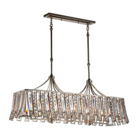 Soros 8 Light 15 inch Ebonized Silver Leaf Chandelier Ceiling Light