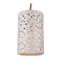Feiss Azalia 4 Light Chandelier in White Taupe Ceramic and Beach Wood F2951/4WTPC/BD