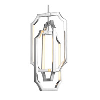 Feiss F2954/6PN Audrie LED 10 inch Polished Nickel Chandelier Ceiling Light