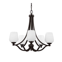 Vintner 5 Light 26 inch Heritage Bronze Chandelier Ceiling Light in Fluorescent