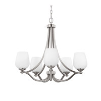 Feiss Vintner 5 Light Chandelier in Satin Nickel F2960/5SN