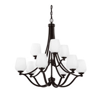 Feiss Vintner LED Chandelier in Heritage Bronze F2961/6+3HTBZ-LA