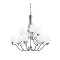 Feiss Vintner 9 Light Chandelier in Satin Nickel F2961/6+3SN