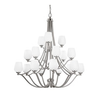 Feiss Vintner 18 Light Chandelier in Satin Nickel F2962/9+6+3SN