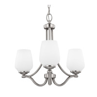 Vintner 3 Light 19 inch Satin Nickel Chandelier Ceiling Light in Standard