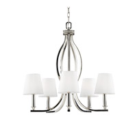 Feiss F2967/5PN Pave 5 Light 25 inch Polished Nickel Chandelier Ceiling Light