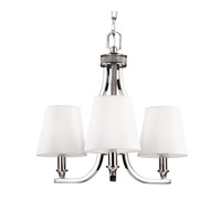 Feiss F2968/3PN Pave 3 Light 18 inch Polished Nickel Chandelier Ceiling Light in Standard
