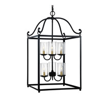 Declaration 6 Light 18 inch Antique Forged Iron Chandelier Ceiling Light in Standard