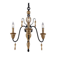 Matrimonio 3 Light 18 inch Driftwood / Dark Weathered Zinc Chandelier Ceiling Light