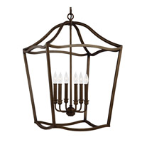 Feiss F2976/6PAGB Yarmouth 6 Light 20 inch Painted Aged Brass Foyer Pendant Ceiling Light