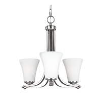 Feiss Summerdale 3 Light Chandelier in Satin Nickel F2977/3SN