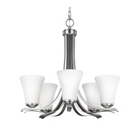 Feiss Summerdale 5 Light Chandelier in Satin Nickel F2979/5SN