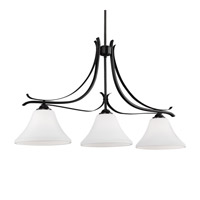 Summerdale 3 Light Oil Rubbed Bronze Island Chandelier Ceiling Light in Standard
