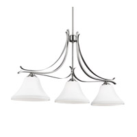 Feiss Summerdale 3 Light Island Chandelier in Satin Nickel F2982/3SN-F