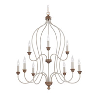 Feiss Hartsville 9 Light Chandelier in Chalk Washed / Beachwood F2999/9CHKW/BW