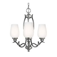 Standish 3 Light 18 inch Heritage Silver Chandelier Ceiling Light in Standard