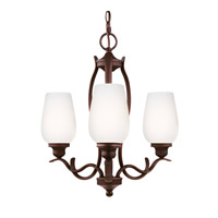 Feiss Standish 3 Light Chandelier in Oil Rubbed Bronze with Highlights F3001/3ORBH