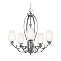 Standish 5 Light 26 inch Heritage Silver Chandelier Ceiling Light in Standard