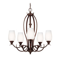 Feiss Standish 5 Light Chandelier in Oil Rubbed Bronze with Highlights F3002/5ORBH