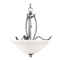 Standish 3 Light 18 inch Heritage Silver Uplight Chandelier Ceiling Light in Standard