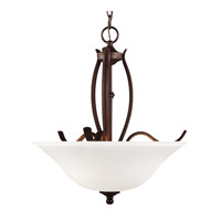 Feiss F3003/3ORBH Standish 3 Light 18 inch Oil Rubbed Bronze with Highlights Uplight Chandelier Ceiling Light in Standard