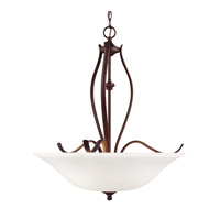 Standish 3 Light 25 inch Oil Rubbed Bronze with Highlights Uplight Pendant Ceiling Light in Standard