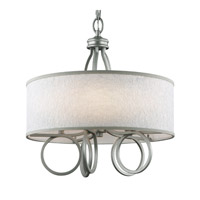 Feiss Parchment Park 5 Light Chandelier in Dark Silver F3006/5SL