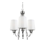 Preakness 3 Light 18 inch Satin Nickel / Polished Nickel Chandelier Ceiling Light in Standard