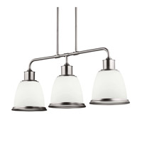 Feiss Hobson 3 Light Island Chandelier in Satin Nickel F3017/3SN