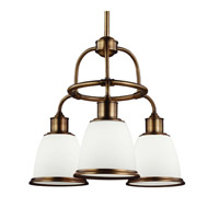 Feiss Hobson 3 Light Chandelier in Aged Brass F3018/3AGB-F