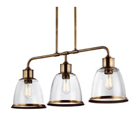 Feiss Hobson 3 Light Island Chandelier in Aged Brass F3019/3AGB-AL