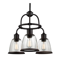 Feiss F3020/3ORB Hobson 3 Light 22 inch Oil Rubbed Bronze Chandelier Ceiling Light