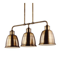 Hobson LED 36 inch Aged Brass Island Chandelier Ceiling Light in Screw-in LED