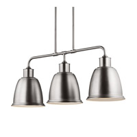 Feiss Hobson LED Island Chandelier in Satin Nickel F3021/3SN-LA