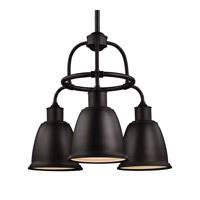 Feiss Hobson 3 Light Chandelier in Oil Rubbed Bronze F3022/3ORB-F