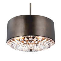 Botanic 4 Light 20 inch Dark Aged Brass Pendant Ceiling Light in Standard
