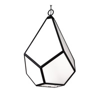 Diamond 4 Light 19 inch Black Pendant Ceiling Light in Fluorescent